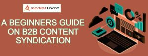 A Beginners Guide on B2B Content Syndication